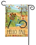 Autumn Bike Ride BreezeArt Garden Flag