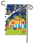 Fall Camping BreezeArt Garden Flag