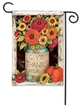 Fall Mason Jars BreezeArt Garden Flag