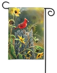 Cardinal View BreezeArt Garden Flag