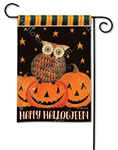 Owloween Fun BreezeArt Garden Flag