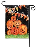 Party Time Pumpkins BreezeArt Garden Flag