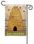 Bee Happy BreezeArt Garden Flag