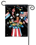 Patriotic Hat BreezeArt Garden Flag