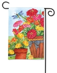 Marigolds and Zinnias BreezeArt Garden Flag