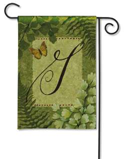 Nature's Script Monogram G BreezeArt Garden Flag