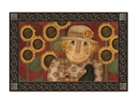 Harvest Scarecrow MatMates Decorative Doormat