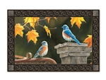 Bluebird Meeting MatMates Decorative Doormat