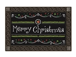 Blackboard Christmas MatMates Decorative Doormat