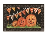 Party Time Pumpkins MatMates Decorative Doormat