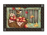Screen Door Wreath MatMates Doormat