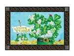 Shamrocks and Ladybugs MatMates Decorative Doormat