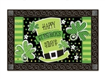 St. Pat's Shamrocks MatMates Decorative Doormat