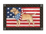 Patriotic Pup MatMates Decorative Doormat