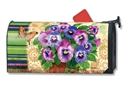 Pretty Pansies Large Mail Wraps Mailbox Cover