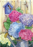 Colorful Hydrangeas House Flag