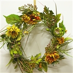 Thistle, Oak & Mums Wreath