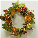 Autumn Hydrangea & Berry Wreath
