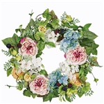 Rose, Hydrangea and Berry Wreath