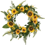 Summer Sunflower Wreath