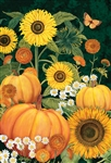 Sunny Pumpkins Decorative Garden Flag
