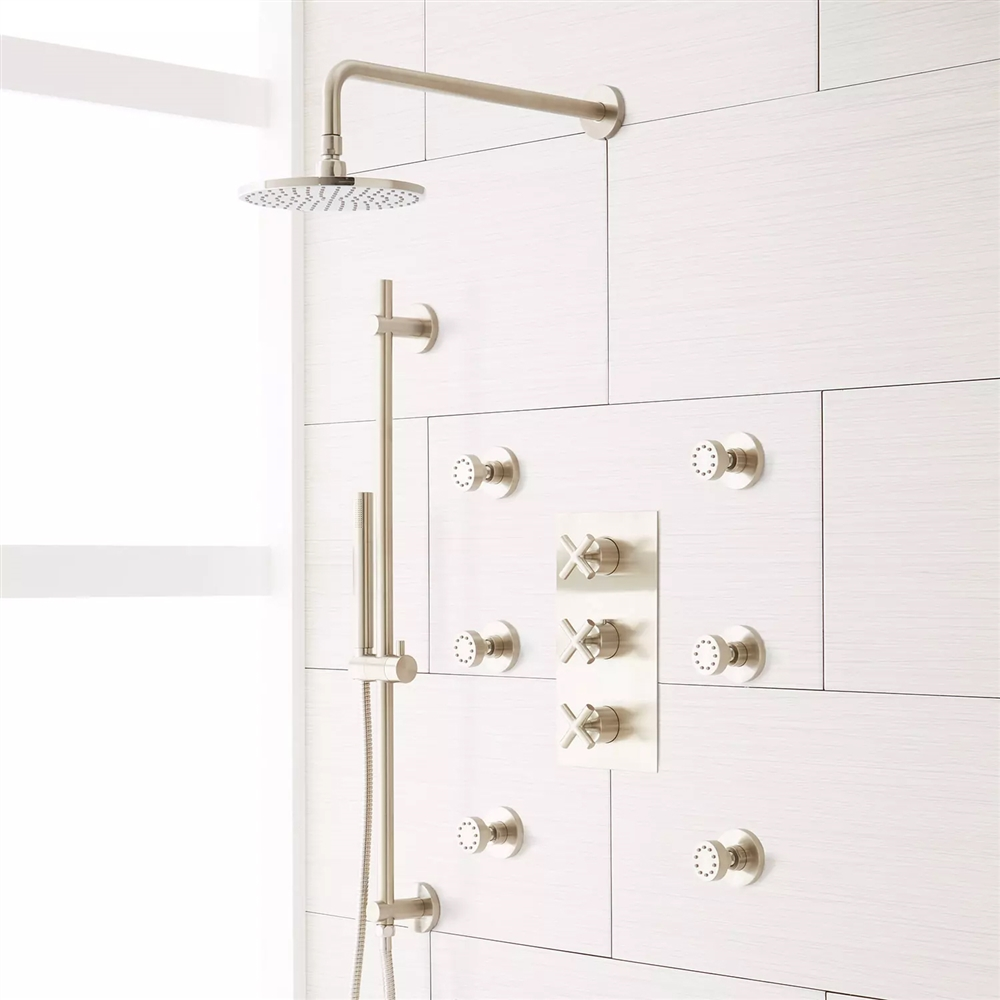 Brushed Finish Wall Mount Shower System