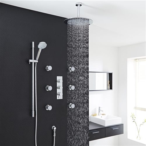 new design thermostatic inch rain shower head system with body massage jets heads handheld riobel reviews