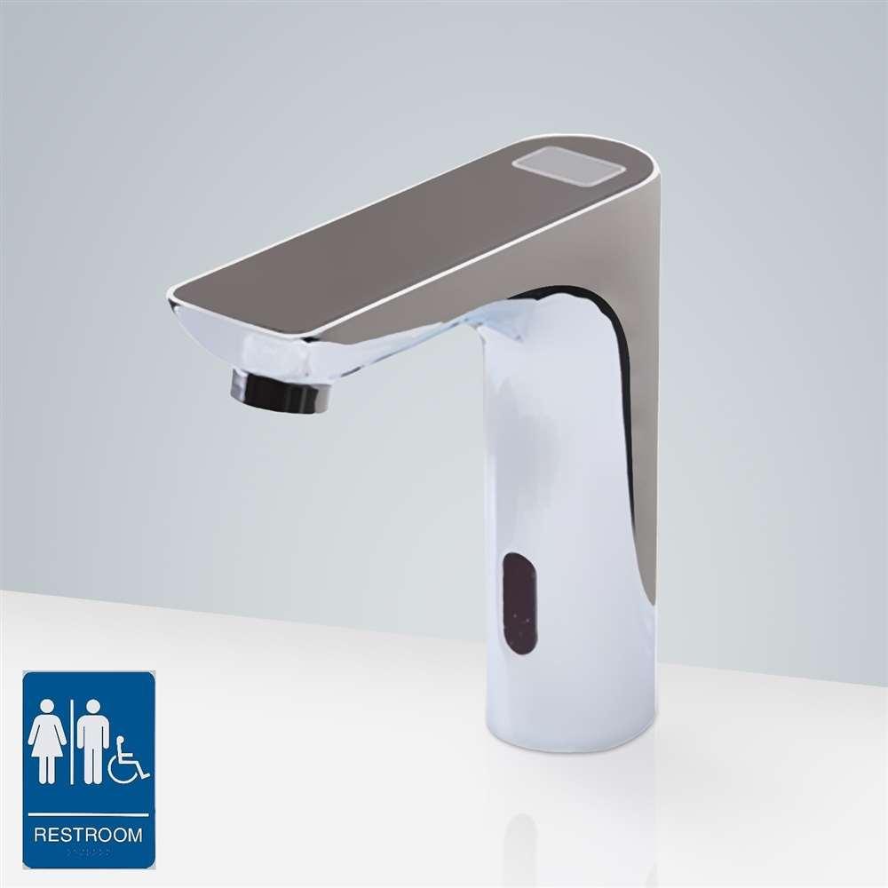Romo Digital Display Motion Sensor Sink Faucet -Black Top
