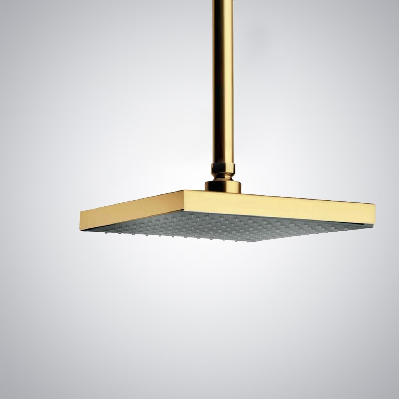 Gold Rain Shower Head. Fontana Gold Plated Luxury Bathroom Square Rain Shower Head