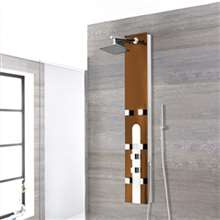 Vicenza Oil Rubbed Bronze Stainless Steel Rainfall Shower Panel with Hand Shower