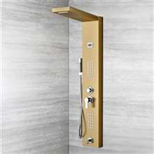 Lenox Digital Display Shower Panel Column With RainFall and WaterFall Shower Head