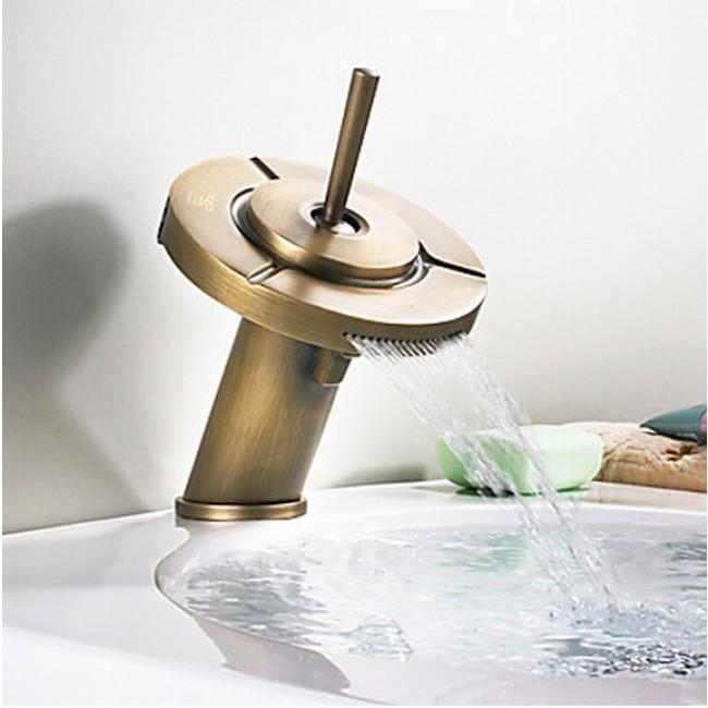 Triple Function Antique Bathroom Sink Faucet
