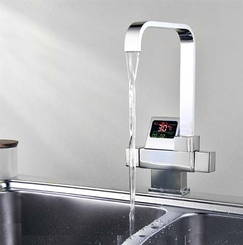 ... Eclipse Digital Display Waterfall Faucet for Bathroom and Kitchen