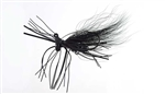 VENOM RON YURKO'S $100K FINESSE JIG 1/8 OZ BLACK HEAD BLACK HAIR 01276
