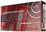 Hornady Superformance Match Rifle Ammunition 81264 5.56 NATO Boat Tail Hollow Point Match 75 GR 2910 fps 20 Rd/bx
