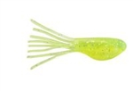 "JOHNSON CRAPPIE BUSTER SHAD TUBES 2"" CLEAR CHARTREUSE SPARKLE CBSTB2-CCSP"