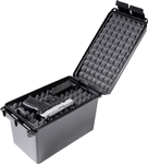 MTM HANDGUN CONCEALED-CARRY CASE, LIFT OUT TRAY, LOCKABLE BLACK HCC-40