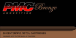 PMC Bronze Line Pistol Ammunition 380A 380 ACP Full Metal Jacket (FMJ) 90 GR 920 fps 50 Rd/bx