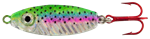 WAHOO BB RATTLER SPOON 1/2 OZ RAINBOW TROUT-GLO WHITE BACK WAH-BRS12-RTH
