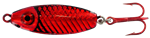 WAHOO BB RATTLER SPOON 1/4 OZ RED FISH-GLO RED BACK WAH-BRS14-RFH