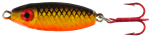 WAHOO BB RATTLER SPOON 3/8 OZ GOLDEN SHAD-GLO WHITE BACK WAH-BRS38-GSH