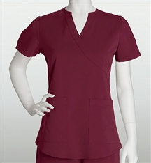 NRG Scrubs 3119 2 Pocket Mock Wrap Side Panel