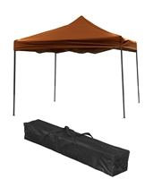 Trademark Innovations Lightweight Portable Canopy Tent Set Brown Canopy Cover