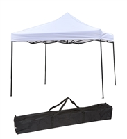 10ft by 10ft Collapsible Whtie Canopy Event Set Up Portable Lightweight