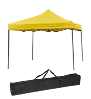 10ft by 10ft Collapsible Canopy Event Set Up Portable Lightweight Yellow Canopy Top