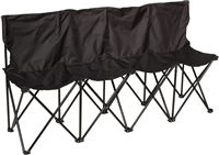 Trademark Innovations Sideline Collapsible Bench 4 Person Seater with Back