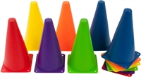 "9"" Plastic Cone -12 Pack Mixed Colors Sports Training Gear by Coach's Closet"
