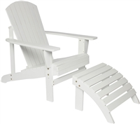 Fir Wood Adirondack Chair with Footrest by Trademark Innovations