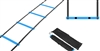 Trademark Innovations Agility Ladder Thick Rungs for Extra Durability (Black Blue, 12 Foot)