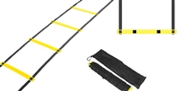 Coach's Closet Agility Ladder 12 Rungs Training Ladder in Black Yellow